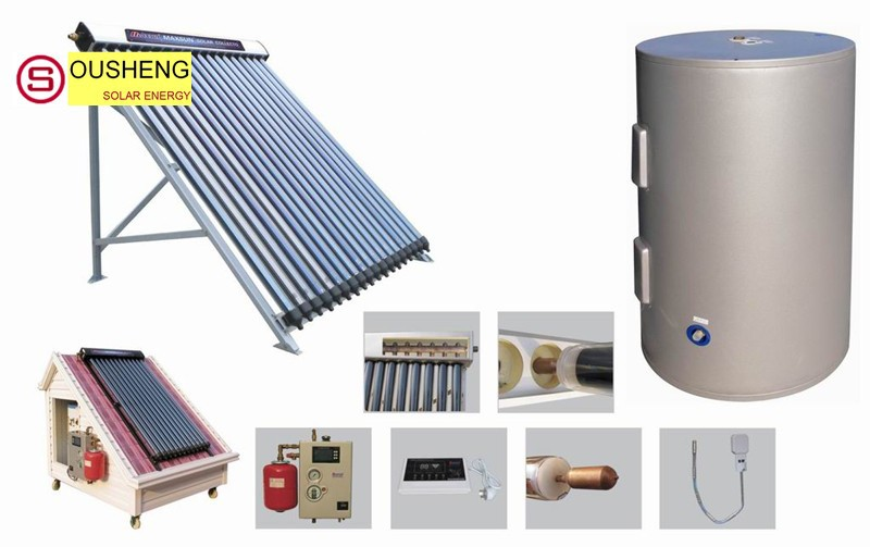 Split pressurized solar indirect hot water tank