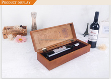 1 Bottle Luxury Wooden Wine Box - Hinged / Stained