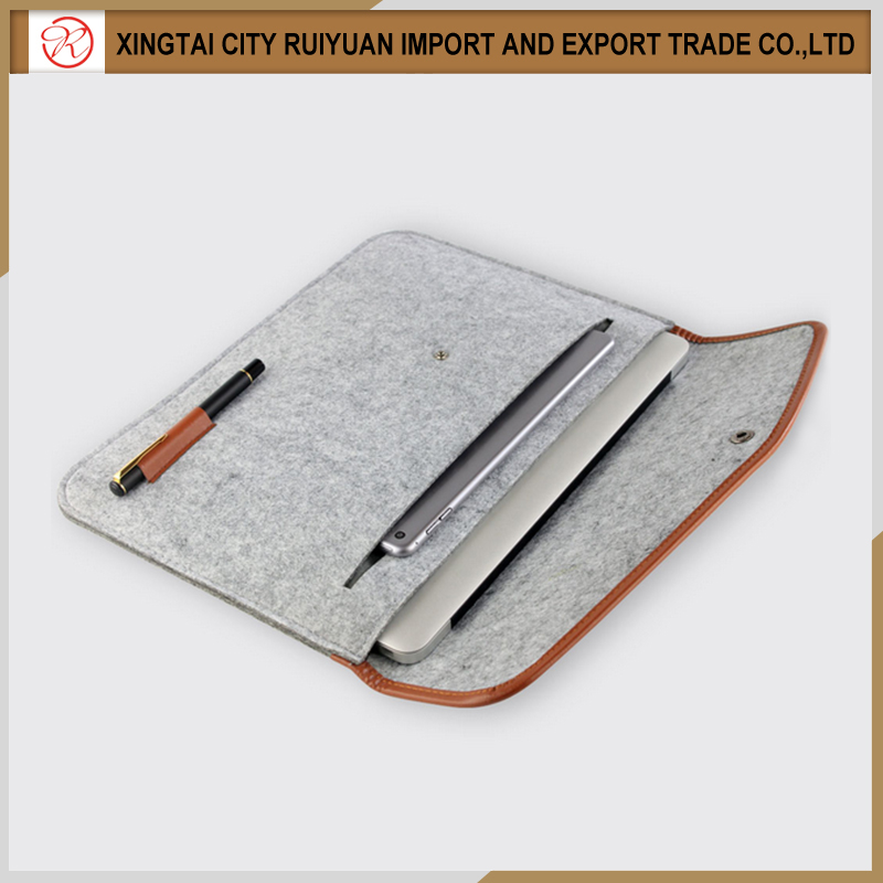 2016 Best selling unique design top quality felt tablet sleeve