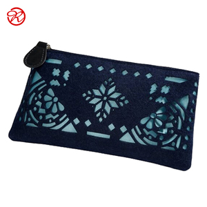 Fashion new design felt lady purse wallet bag