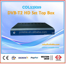 dvb t2 set top box,digital hd tv box dvb-t2 decoder with free to air COL52K89