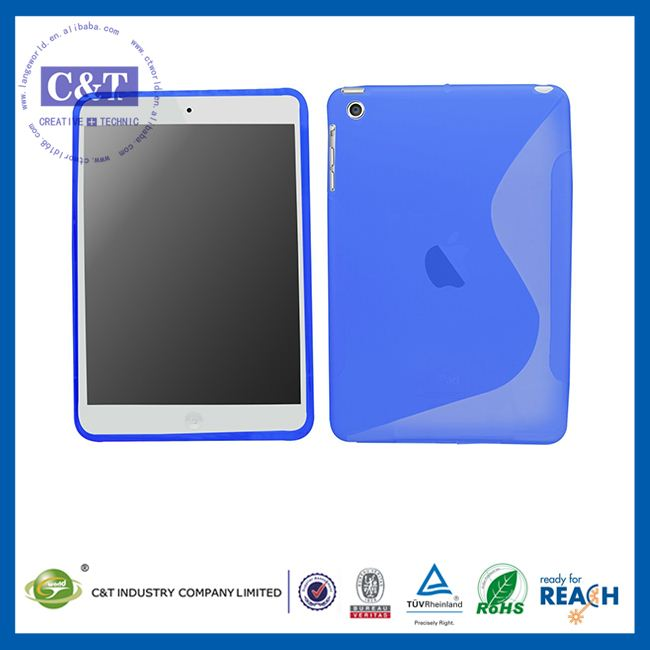 C&T Light blue back protective gel housing case cover skin for ipad mini