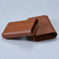 high quality PU leather 4ct cigar travel case