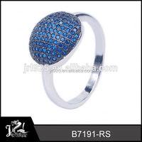 Wedding Long Stone black zirconium rings