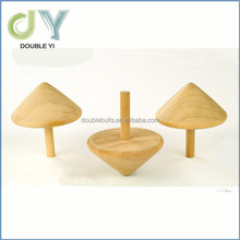 Custom cheap mini wooden Peg-top toy for wholesale