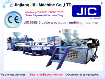 PVC three color upper molding machine