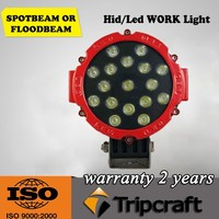 High Intensity! 2PCS/LOT! 51W LED WORKING LAMP Headlights IP67 Out Door 4WD UTE OFF ROAD For Truck Boat Camping