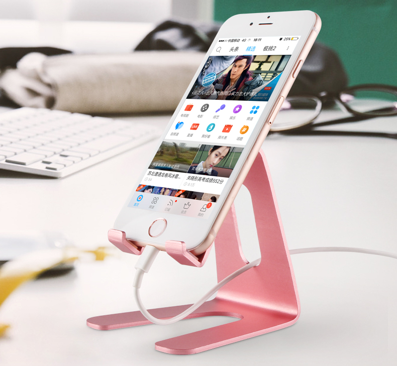 Universal Aluminium Cell Phone Stand Portable Desktop Stand for iPad Mini for Most Tablets