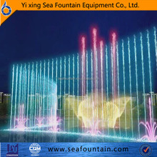 Middle fountain magnificant large music dancing floating fountain multimedia computer