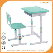 Children study adjustable desk and chair