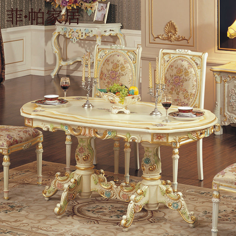 Style Furniture Sold Wood Baroque Dining Set Buy European Style