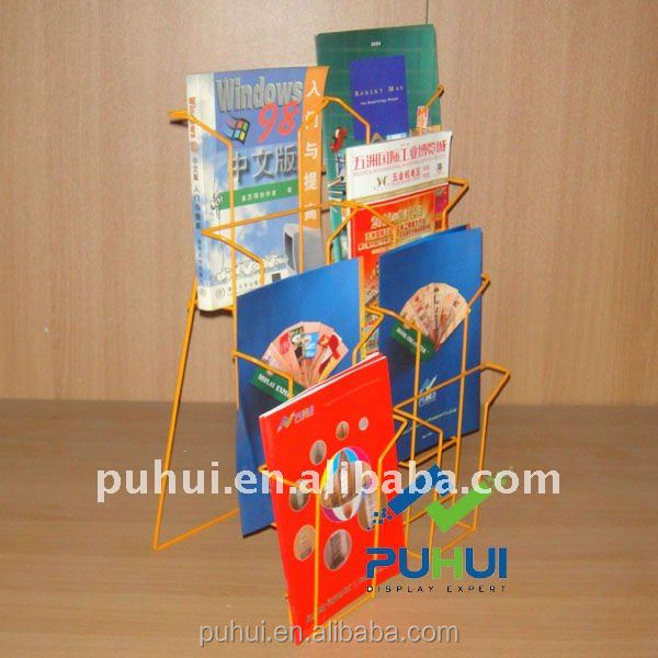 Wire and metal rotating book display stand