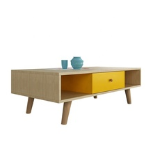 Home Simplicity Multi-Colored Coffee Table with Rectangle, Block Shaped Top, Slanted Legs ,Living Room <strong>Furniture</strong>