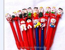 The Santa Claus Christmas Gift Pen Polymer Clay Pen (OEM LOGO Printing is available) CH-6719