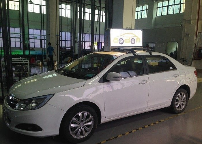 Taxi car roof top led city advertising display
