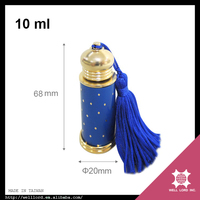 Blue gold combination empty car perfume essence fragrance bottle