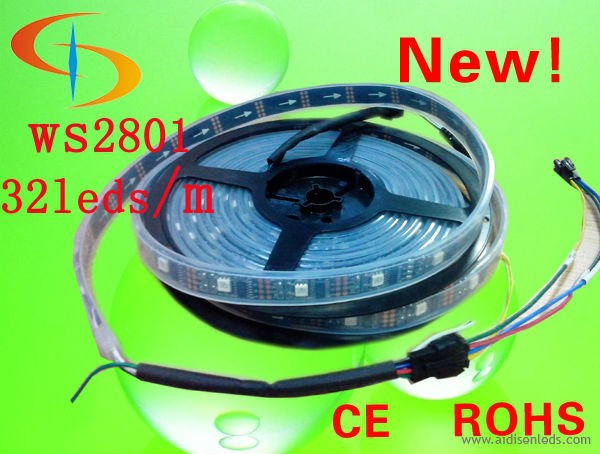 CE RoHS certified dc5v SMD5050 led flexible strip light 32 led / m with ic 2801