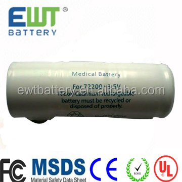 replacement medical equipment battery 3.5v rechargeable battery 750mah 72200 battery