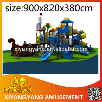 Miracle colorful flower rotating spiral slide kids play equipment, high quality amusement park outdoor playground equipment