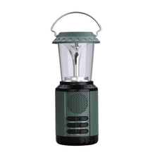 Solar Crank Portable Emergency Camping Lamp Lantern Rechargeable Light FM Radio