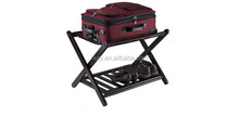 Alibaba express factory direct sale wood foldable luggage rack for hotels