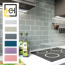New Design Professional Subway Beveled Tile Gray Strip Ceramic Mosaic taupe glass subway Tile For Backsplash