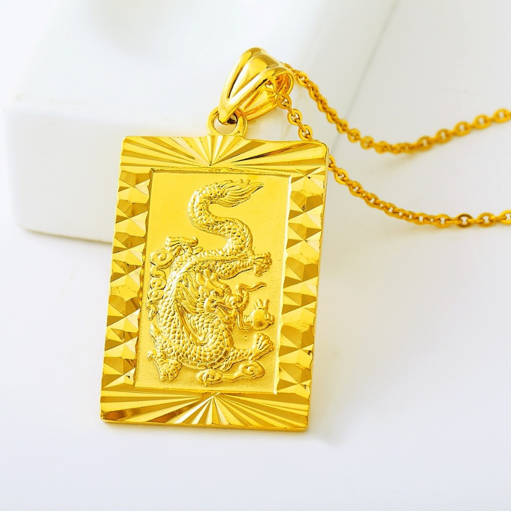 2017 Fashion Gold Color Necklace Pendant Man fashion Dragon Chain Hiphop fine Jewelry Rock style for women men wholesale trendy