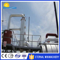 Cheap price waste tire oil recycling to diesel machine Waste tire/plastic pyrolysis plant