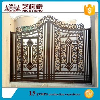 Indian House Aluminum Main Gate Designs /2016 Decorative Cast Aluminum  Garden Gates Iron Courtyard Gate