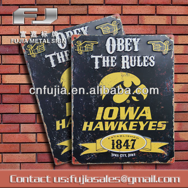 custom shop open close metal aluminum sign