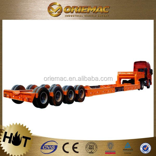 CIMC 33 ton 3-axle flat bed container platform truck trailer, truck trailer rear lights led