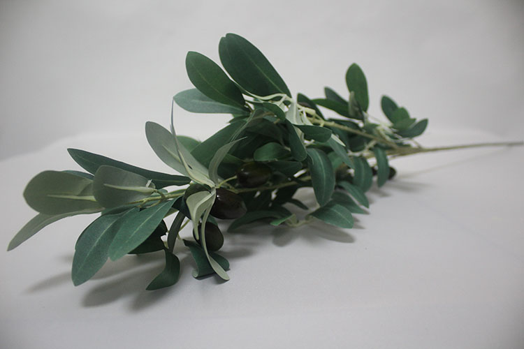 SFH63004 High quality china indoor plastic olive tree branches with fruits fake green olive leaves plant artificial leaves