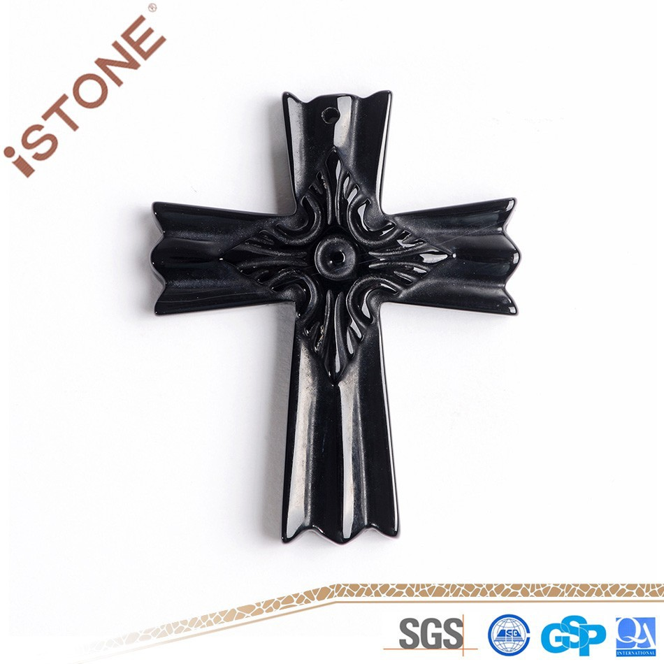 New 40*50*8.2 MM Fashion Casual Unisex Agate Cross Crafts for Decoration & Gift