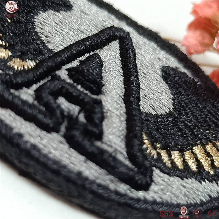 Customized Shape Colorful Embroidery Backing Small Woven Transfer Patch