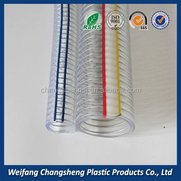 PVC steel wire spiral Flexible low weight air duct hose