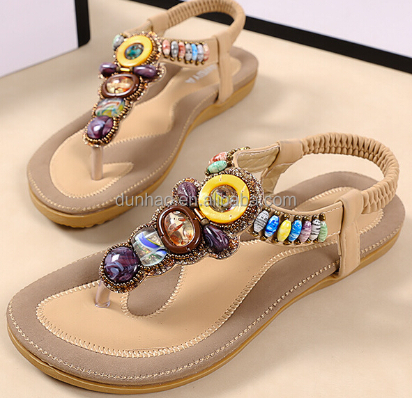Ladies Summer Sandals Photo 2016 Latest Women Flat Casual Sandal Shoes
