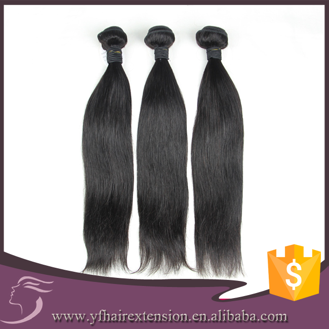 "Hot Selling Virgin Peruvian Human Straight Hair 8""-30"" Inches #1b 8A"