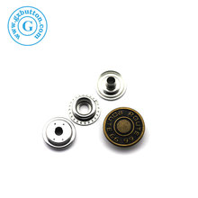 Decorative zinc alloy colored metal snaps buttons for clothes