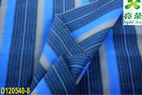 100% compact yarn dyed multi color stripe fabric
