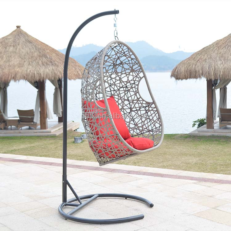 Garden furniture modern outdoor garden hanging swing rattan egg chair