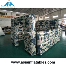 Camouflage War Zone Military Inflatable Paintball Bunkers/ Tactical Laser Tag for Team Games