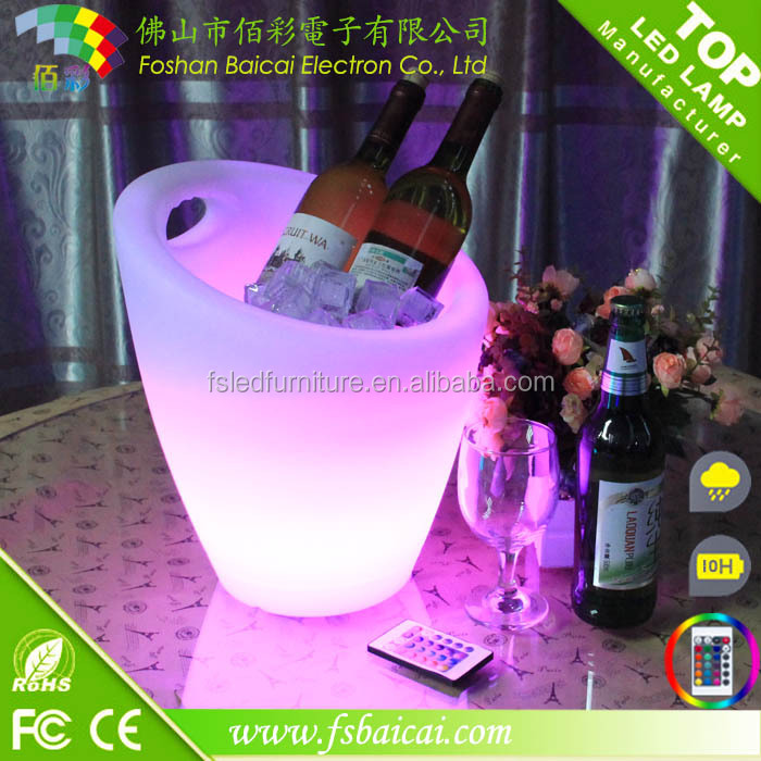 LED Ice Bucket/LED Cooler Tong/LED Wine Bucket