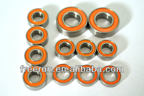 High Performance DELTA P4 1/8 GAS steel bearing kits with different rubber seal color