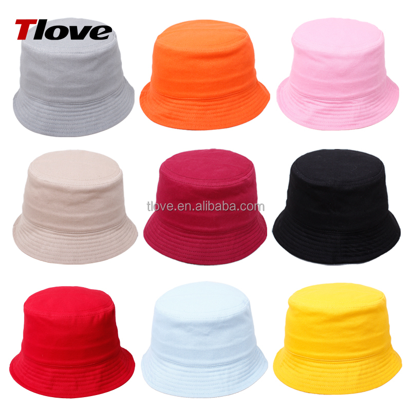 Tlove Cheap Children Bucket Hats, Fishing Hat in 100% Cotton Twill Size 52cm, Style No. 3012