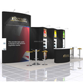 Detian Offer simple design booth trade show exhibit stand for portable show fair
