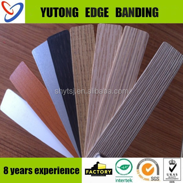 china popular 3mm table wengue color pvc edge banding
