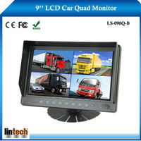 9 inch stand alone rear view lcd bus monitor for 4CHs video input