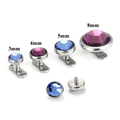 Custom dermal anchor jewelry stainless steel micro dermal anchor tops