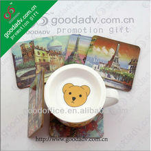 2017 New Products cheap souvenirs gift MDF coaster