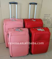 lady fashion eva pink travel trolley luggage bag RS10061 made in Guangdong China